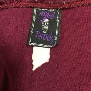 Morbid Threads Dresses - Morbid Threads- Crushed Velvet Skater Dress